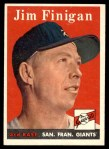 1958 Topps #136  Jim Finigan  Front Thumbnail