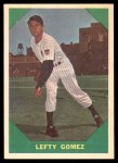 1960 Fleer #54  Lefty Gomez  Front Thumbnail