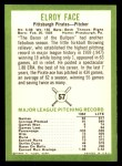 1963 Fleer #57  Roy Face  Back Thumbnail