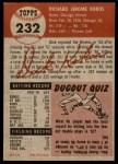 1953 Topps #232  Dick Kokos  Back Thumbnail