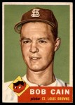 1953 Topps #266  Bob Cain  Front Thumbnail