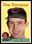 1958 Topps #469  Don Ferrarese  Front Thumbnail