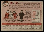 1958 Topps #445  Bob Smith  Back Thumbnail