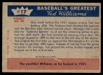 1959 Fleer #17   -  Ted Williams How Ted Hit .400 Back Thumbnail
