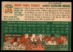 1954 Topps #155  Bob Kennedy  Back Thumbnail