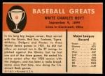 1961 Fleer #44  Waite Hoyt  Back Thumbnail