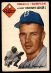 1954 Topps #209  Charlie Thompson  Front Thumbnail