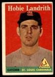 1958 Topps #24 WN Hobie Landrith  Front Thumbnail