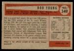 1954 Bowman #149  Bob Young  Back Thumbnail