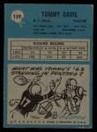 1964 Philadelphia #159  Tommy Davis   Back Thumbnail