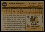1960 Topps #529  Norm Sherry  Back Thumbnail