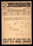 1959 Topps #87  Jim Patton  Back Thumbnail