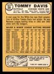 1968 Topps #265  Tommy Davis  Back Thumbnail