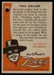 1958 Topps Zorro #29   Full Gallop Back Thumbnail