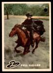 1958 Topps Zorro #29   Full Gallop Front Thumbnail
