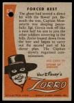 1958 Topps Zorro #58   Forced Rest Back Thumbnail