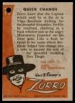 1958 Topps Zorro #77   Quick Change Back Thumbnail