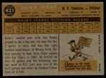 1960 Topps #421  Duke Maas  Back Thumbnail