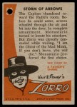 1958 Topps Zorro #59   Storm Of Arrows Back Thumbnail