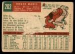 1959 Topps #202  Roger Maris  Back Thumbnail