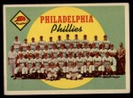 1959 Topps #8   Phillies Team Checklist Front Thumbnail