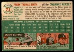 1954 Topps #71  Frank Smith  Back Thumbnail