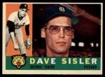 1960 Topps #186  Dave Sisler  Front Thumbnail