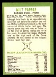 1963 Fleer #3  Milt Pappas  Back Thumbnail