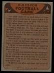 1974 Topps  Checklist   Redskins Back Thumbnail