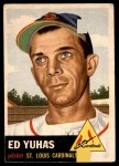 1953 Topps #70  Ed Yuhas  Front Thumbnail