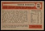 1954 Bowman #95  Robin Roberts  Back Thumbnail