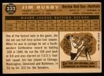 1960 Topps #232  Jim Busby  Back Thumbnail