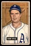 1951 Bowman #192  Hank Wyse  Front Thumbnail