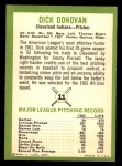1963 Fleer #11  Dick Donovan  Back Thumbnail