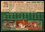 1954 Topps #173  Jack Harshman  Back Thumbnail