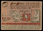1958 Topps #152  Johnny Antonelli  Back Thumbnail