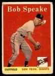 1958 Topps #437  Bob Speake  Front Thumbnail