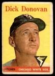 1958 Topps #290  Dick Donovan  Front Thumbnail