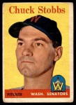 1958 Topps #239  Chuck Stobbs  Front Thumbnail