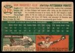 1954 Topps #179  Gair Allie  Back Thumbnail