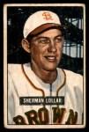 1951 Bowman #100  Sherm Lollar  Front Thumbnail