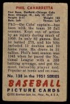 1951 Bowman #138  Phil Cavarretta  Back Thumbnail