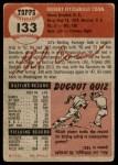1953 Topps #133  Gil Coan  Back Thumbnail