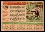 1955 Topps #168  Duane Pillette  Back Thumbnail