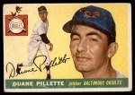 1955 Topps #168  Duane Pillette  Front Thumbnail