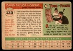 1955 Topps #133  Dave Hoskins  Back Thumbnail