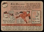1958 Topps #3  Alex Kellner  Back Thumbnail
