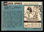 1964 Topps #106  Jack Spikes  Back Thumbnail