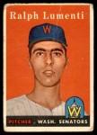 1958 Topps #369  Ralph Lumenti  Front Thumbnail