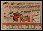 1958 Topps #349  Murry Dickson  Back Thumbnail